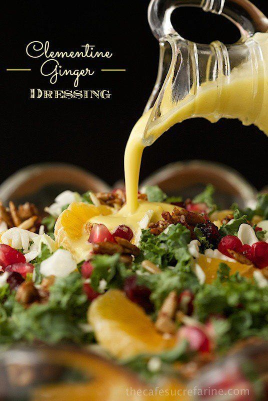 Clementine Ginger Salad Dressing - delightfully fresh and delicious with clementine zest and juice, ginger, honey and coriander as star ingredients.