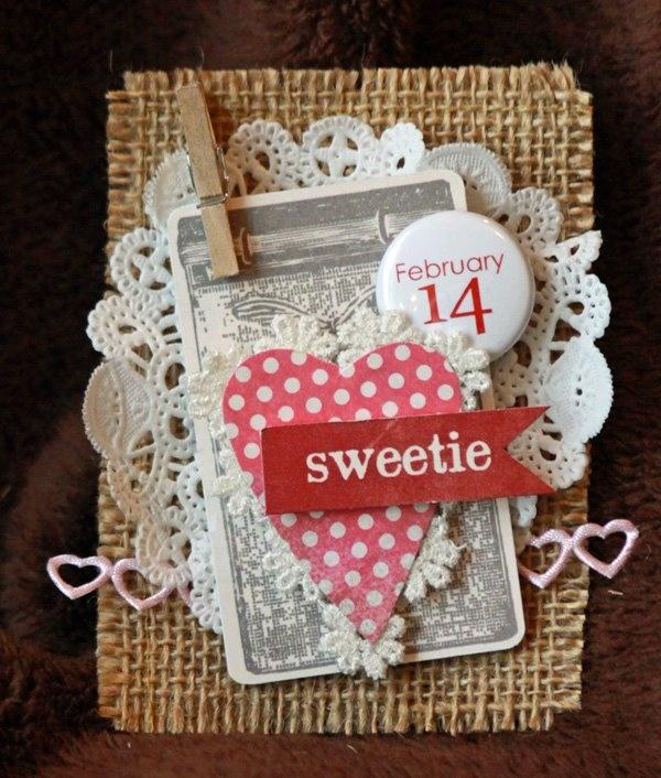 Xyron Design Team Member Angela Ploegman's Valentine's Day Card