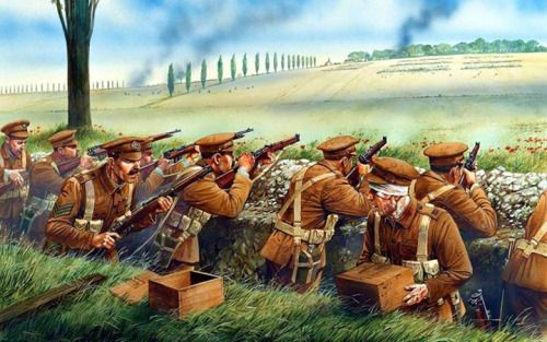 """British WW1 """"Battle of Mons was the first battle for the British Expeditionary Force"""""""