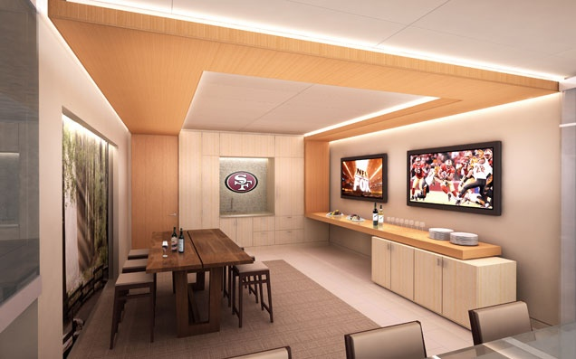 Luxury suite inside new Santa Clara Stadium scheduled to open in August, 2014.