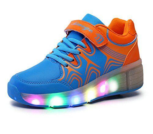 Mädchen Jungen Kinder LED Leuchtet Sneakers mit Einem Cooly Roller Skates Skateboard Turnschuhe Runners Laufschuhe ohne USB Unisex Herren Damen - http://on-line-kaufen.de/generic/maedchen-jungen-kinder-led-leuchtet-sneakers-mit