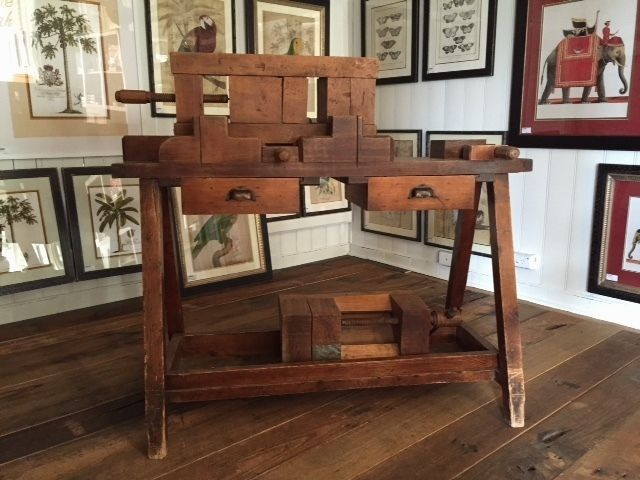 Antique work bench for Print Framing. Only one available. #antique #vintage