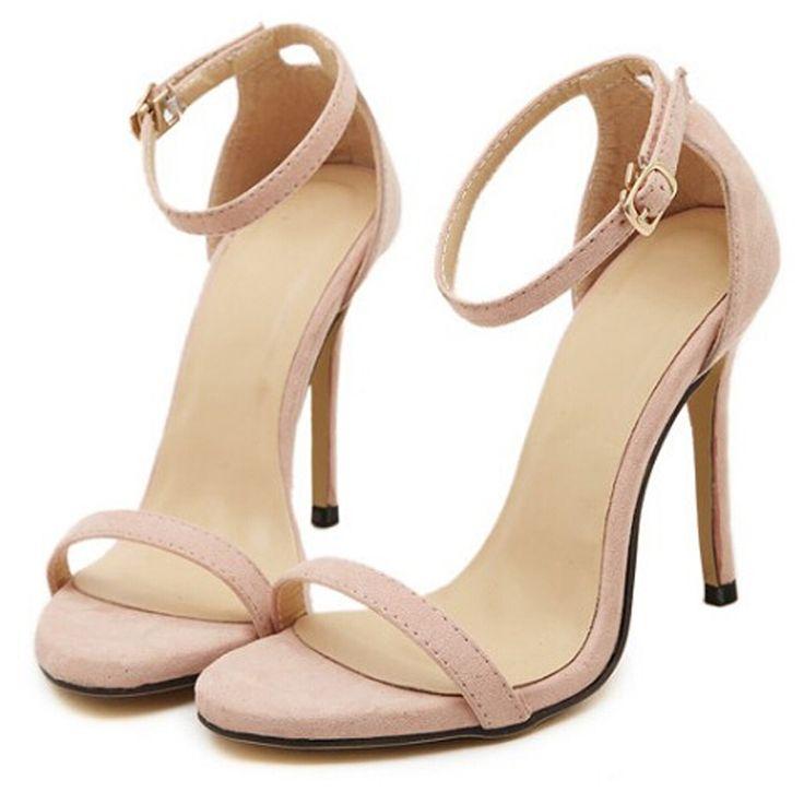 Бренд ZA R 2016 свадебные босоножки на высоких каблуках насосы лето т сценические сексуальные свадебные туфли для партии сандалии Peep toe Пряжка trap купить на AliExpress