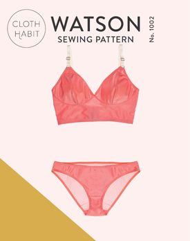 Watson Bra & Bikini, a lingerie sewing pattern from Cloth Habit