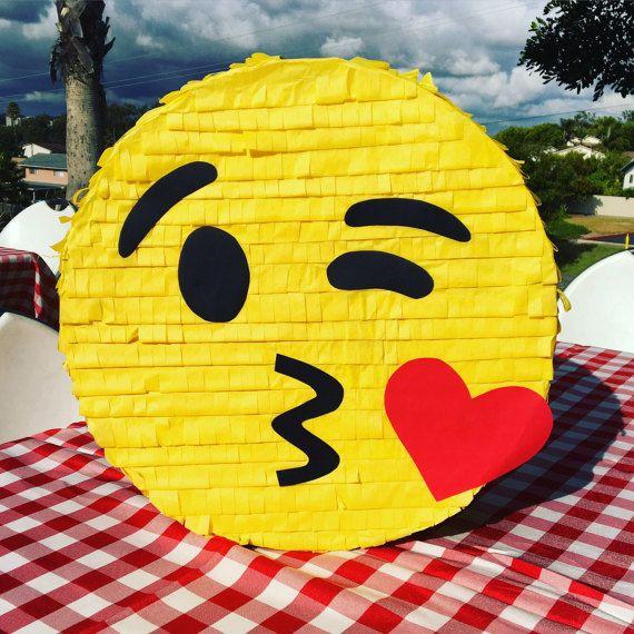 18 Emoji Piñata Kissing Emoji Piñata Emoticon by LetsPartyByKarla