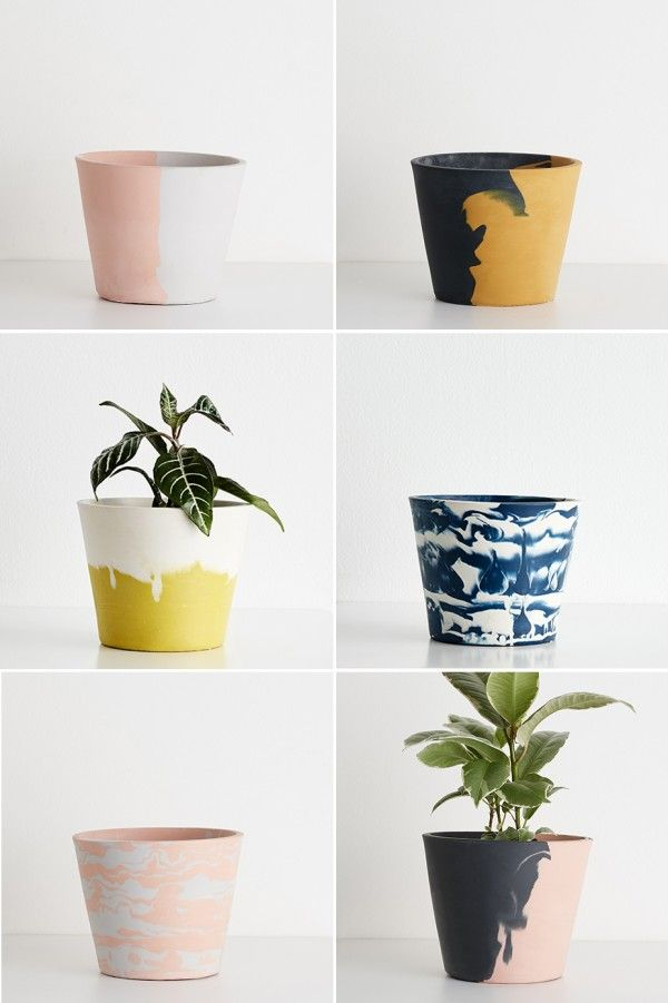 Capra Designs eco water-based resin planters.