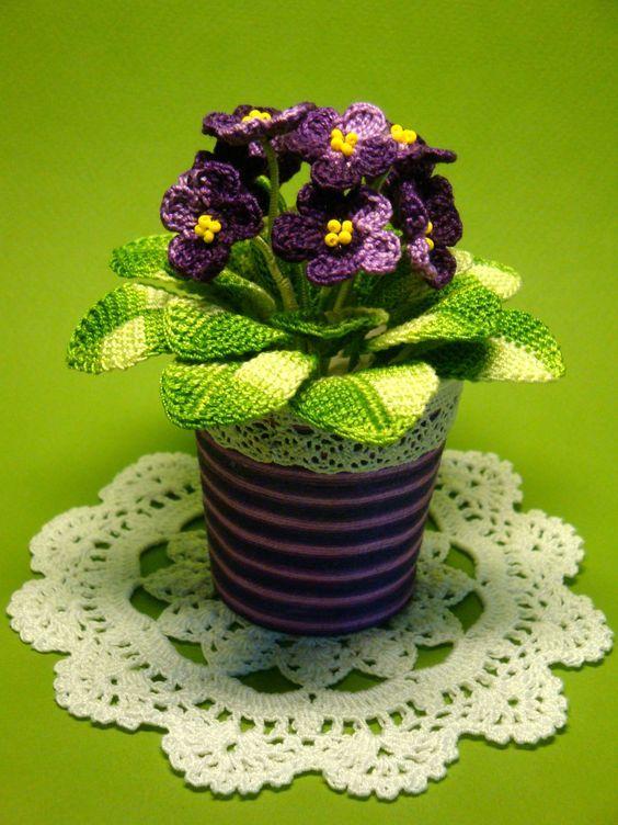 crochet flower in pots  e6d3ea163cdf9