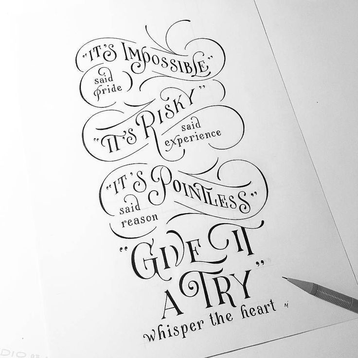 Just give it a try! Artwork by @novia_jonatan . . . . . . . #HandWriting #InsperationalQuote #Quote #MotivationalQuotes #Typography #PositiveQuotes #Artist #Art #LifeQuotes #Lifehacks #DailyArtWork #DailyArt #TypograpghyArt #TypographyInspired #Lettering #CalligraphyType #Calligraphyainspired #Calligritype #Calligraphy #50words #typegang #HandMadeType #typetopia #typedaily #typografi #typism #artoftype #DifferenType