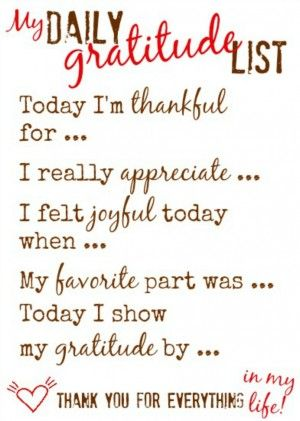My Daily Gratitude List™