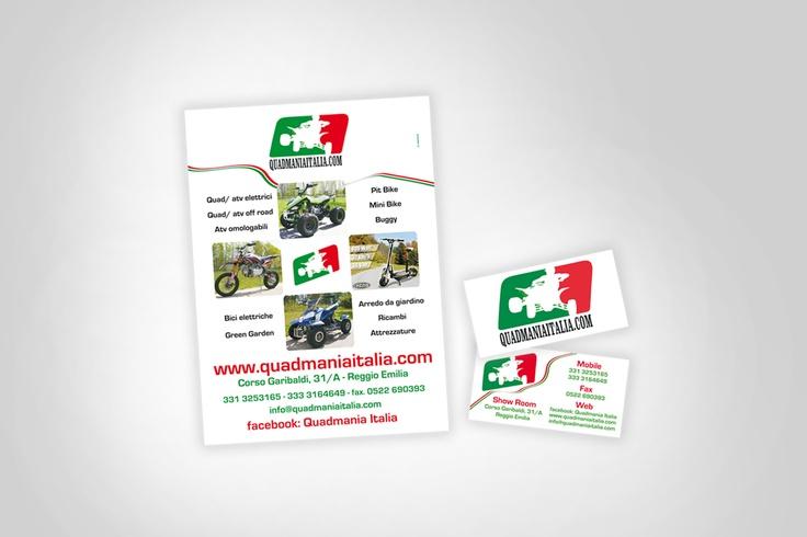 quadmania italia   progettazione grafica e stampa biglietti da visita e volantino pubblicitario