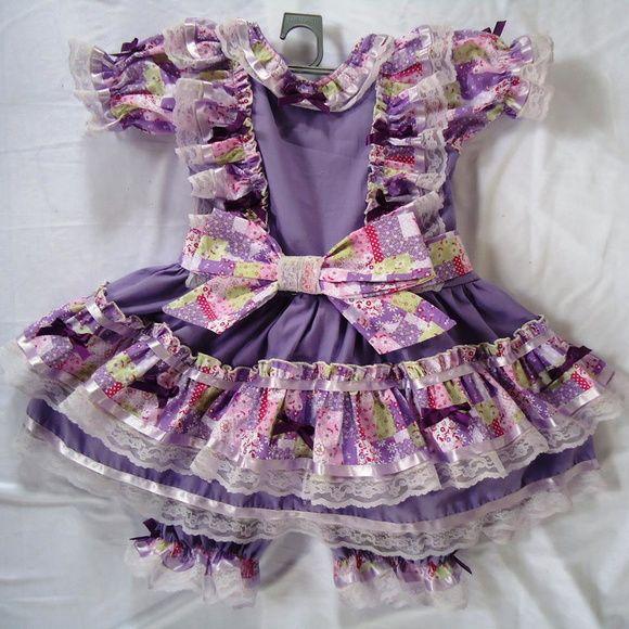 Vestido de Quadrilha Lilás