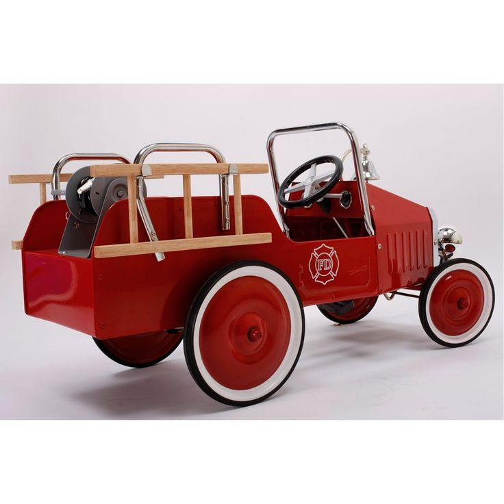 FIRE TRUCK PEDAL CAR by Baghera: Amazon.co.uk: Toys & Games