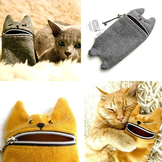 zipper cats!! I would necessarily want one...but look how the Riggsby-cat in the bottom right corner loves his/her zipper cat!! :)