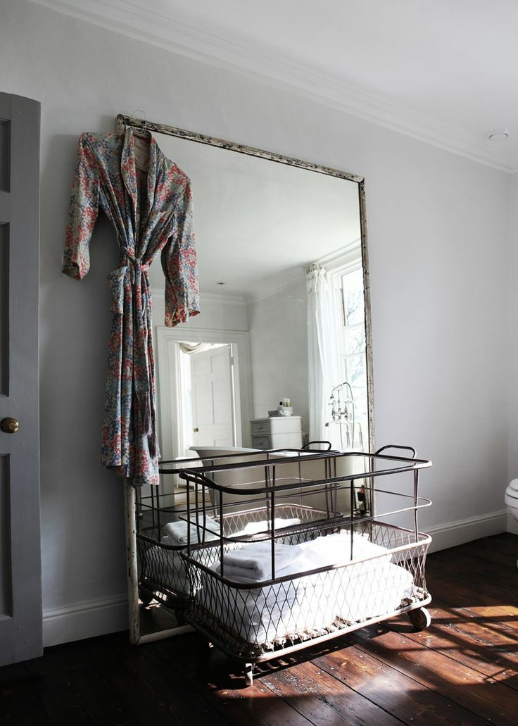 i want a huge mirror like this for a bedroom wall or an extra bedroom laundry in