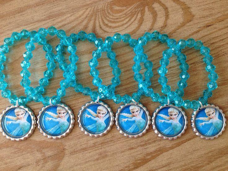 Frozen party favor bracelet.. Frozen bracelet.. by GirlzNGlitter, $18.00
