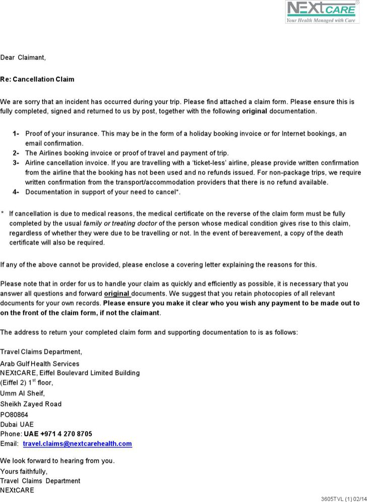 the sample doctors note for travel claim cancellation form - medical certificate form