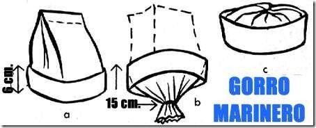Disfraz casero: Gorro de marinero de papel para disfraz