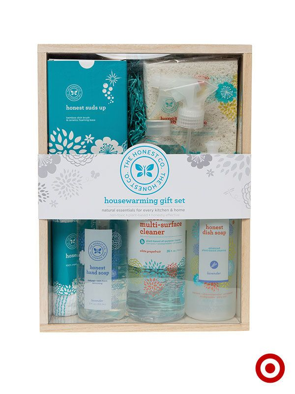 The Honest Company Housewarming Gift Set is full of plant-based, non-toxic home essentials. Honestly effective.