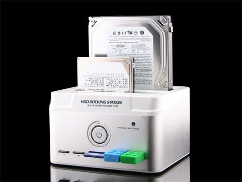 The Dual HDD Docking Station with USB Hub and Card Reader: Media Cards, Cards Readers, Dual Hdd, Multifunct Dock, Hdd Dock, Hdd Multifunct, Dock Stations, Multi Funct Dock, Hdd Multi Funct