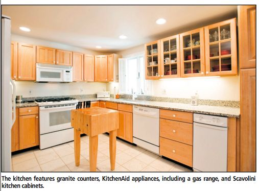 Maple Cabinets White Appliances