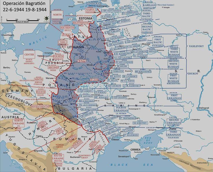 23 de Junio de 1944. La URSS pone en marcha la Operación Bagration. La mayor ofensiva realizada hasta la fecha por el ejército rojo. Por ser coetánea al desembarco de Normandía es poco conocida en occidente. Suena más heroico hablar de las Ardenas o Arhem que de lugares perdidos como Orsha o Bobruisk. Pero en menos de 6 semanas la Wehrmacht sufrió la mayor derrota de la Segunda Guerra Mundial.