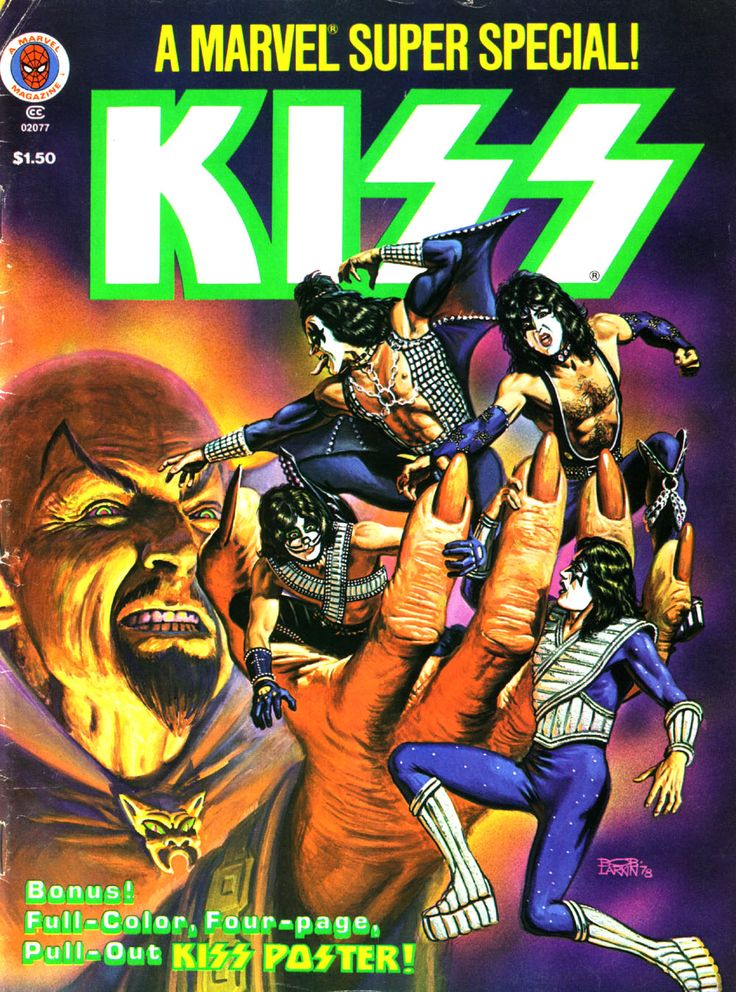 Marvel Super Special #5, Featuring KISS, September 1978. cover by Bob Larkin