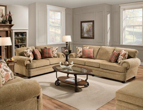 7530 Thunder Topaz Living Room Traditional Styling With Roll Arm And Coordinating Accent
