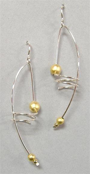 lovely pearl earrings DIY earring jewelry fashion large hoop earring gold pearl jewelry fashion - Picmia