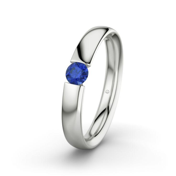 Weißgold ring mit saphir  Die besten 25+ rosa Saphirring Ideen auf Pinterest | rosa Diamant ...