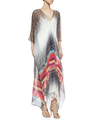 Charlie Jade Printed Silk Caftan Maxi Dress