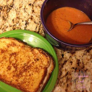 Tomato, Basil, Cheddar Soup Recipe | soup | Pinterest