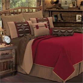 Native American Bedroom Furniture | ... Native American Coverlet Set and Accessories by HiEnd Accents by