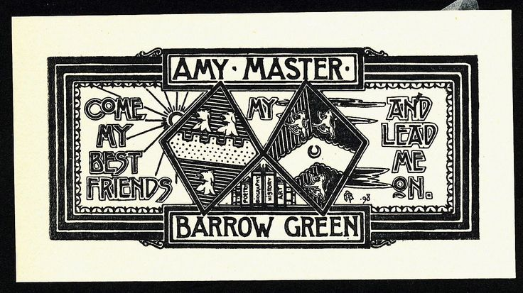 Bookplate Bookplate by E Bengough Ricketts for Amy Master, 1898