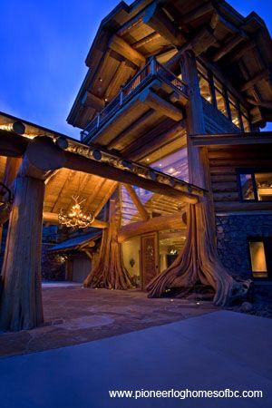 Log Homes - http://www.pioneerloghomesofbc.com/log-homes-gallery.html log cabin near shasta seen on epic log homes