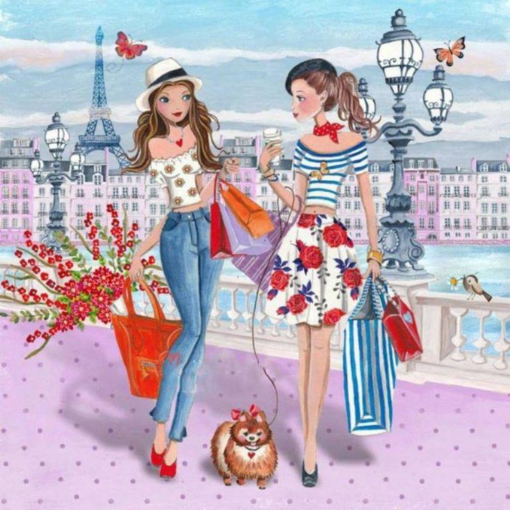 Las turistas en Paris