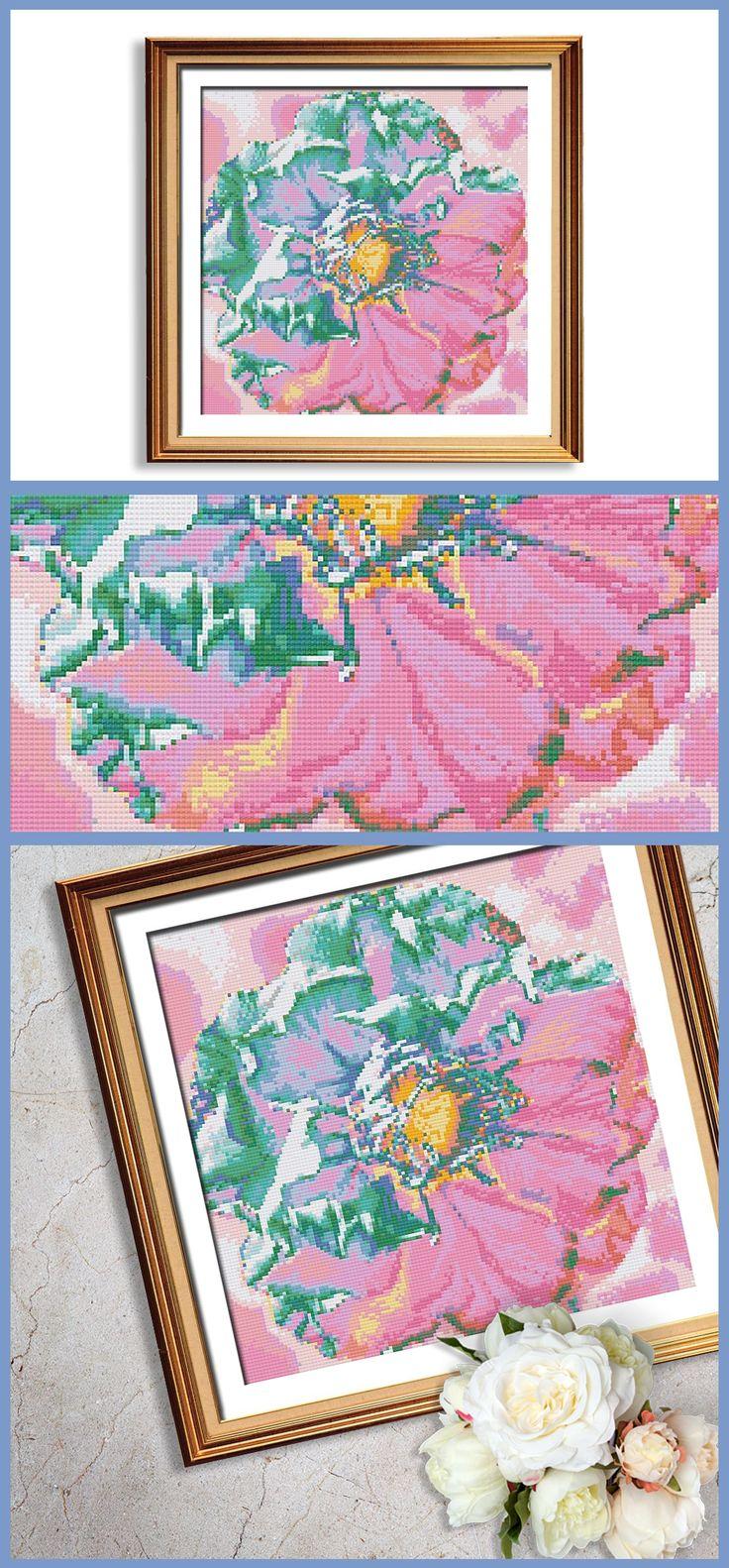 An elegant take on modern cross stitch patterns.