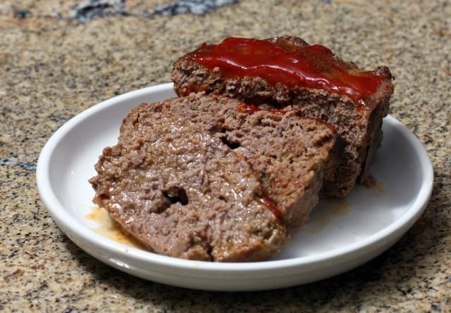This is a recipe for an all-beef meatloaf with oatmeal, onion, and a little garlic. This classic savory meatloaf has a simple ketchup topping, but a barbecue sauce could be used as well.
