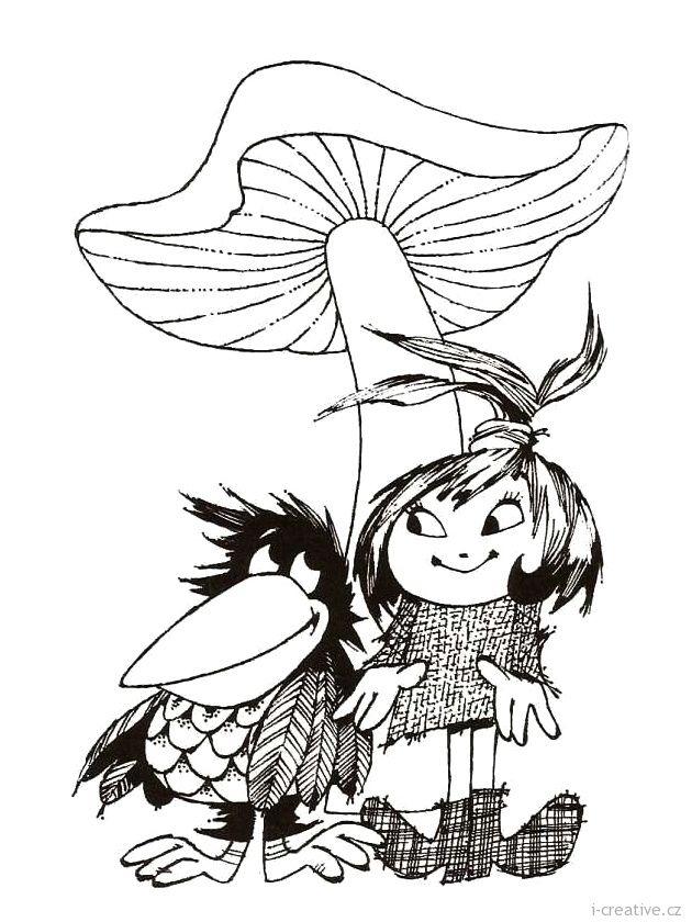 malá čarodějnice s havranem