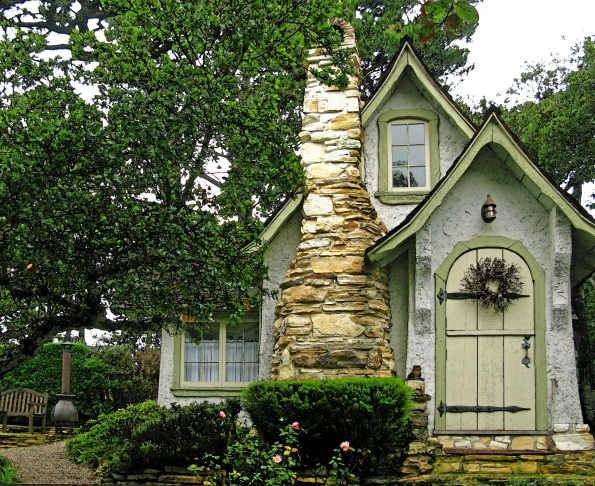 This is from a blog about Hugh Comstock's cottages in Carmel, CA.  Each one is just magical.