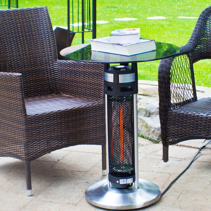 The Ener G+ HEA 14756LED Bistro Table 1400 Watt Infrared Heater With LED  Light. Outdoor HeatersPatio HeaterInfrared HeaterSmall ...