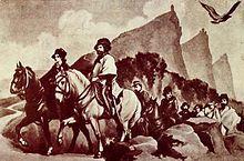 1849, dopo la caduta della Repubblica Romana Giuseppe Garibaldi e Anita Garibaldi in fuga, trovano rifugio a San Marino