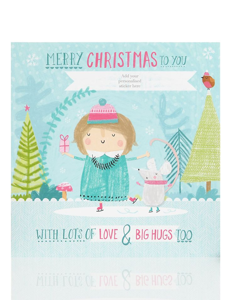Merry Christmas Grandma Personalised Christmas Card