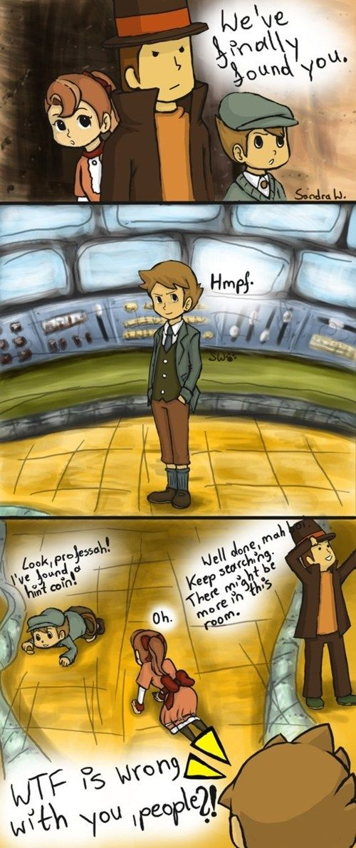 Every Professor Layton Players Logic. Haha I did this xD