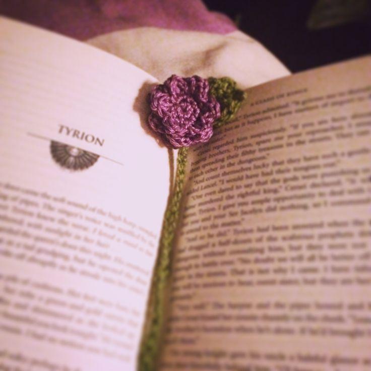 Flower bookmark crochet