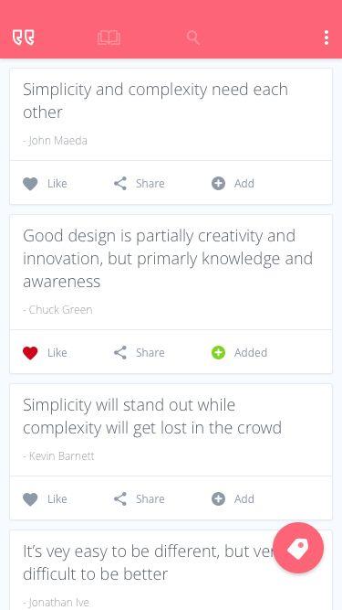 [APP] [2.3.3+] Design Quote - Material Inspi… | Android ...  |App Design Quotes