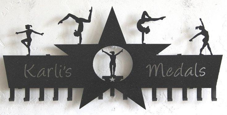 Gymnast Medal Holder: Gymnastics Ribbons Holder: Personalized Awards Holder #gymnastics-medal-hanger #gymnastics-medal-holder #gymnastics-medals-display #medal-display #medal-hanger #medal-hanger-gymnastics #medal-hangers #medal-holder #medal-holder-gymnastics #personalized-gymnastics-medal-display #wrestling-medal-display