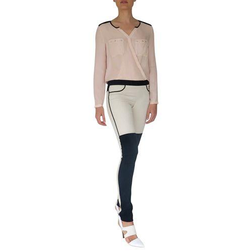 Skinny Panel Pants on TROVEA.COM