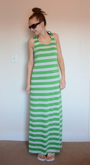Swimsuit Cover-up Maxi Dress Tutorial