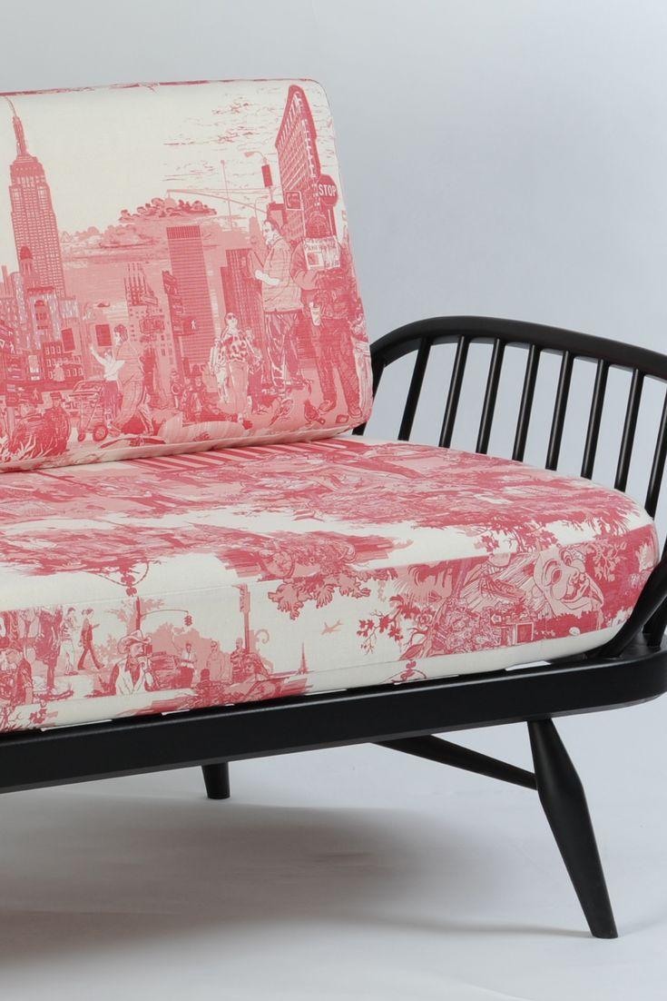 Lexington furniture chair fabric gold additionally ikea swivel chairs - Timorous Beasties Fabric New York City Toile