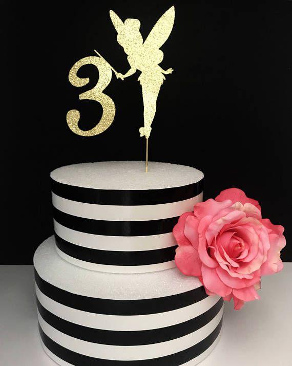 Gold fairy Cake Topper Centerpiece tinkerbell cake topper